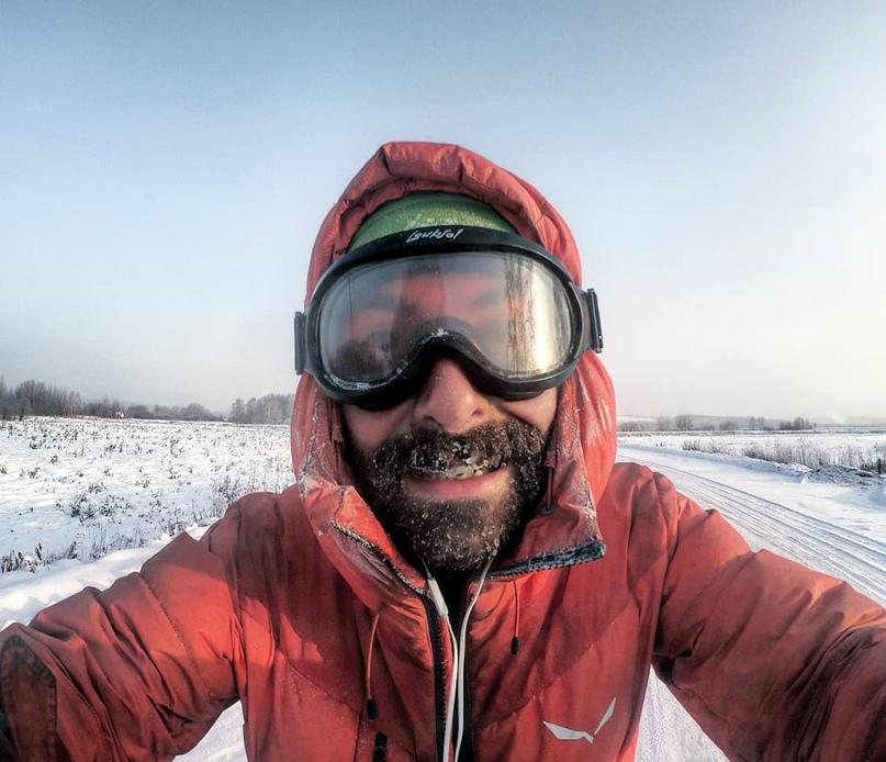 Путешественник на велосипеде Lorenz Baccifava проездом через Пермский край