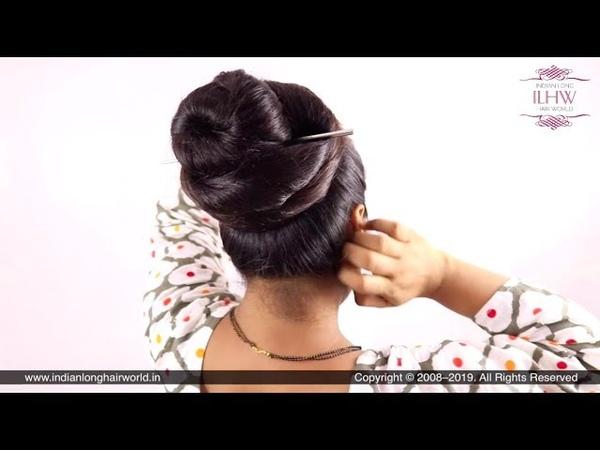 How to: Easy Coiled Hair Bun Hairstyle | Swirl Bun Hairstyle | Twisted Hair Bun Hairstyle For Hair.
