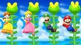 Mario Party 9 Step It Up - Peach vs Mario vs Vario vs Yoshi Master Difficulty