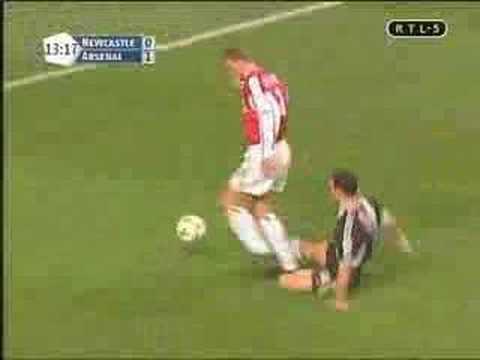 Dennis Bergkamp goal vs Newcastle 2002 no sound