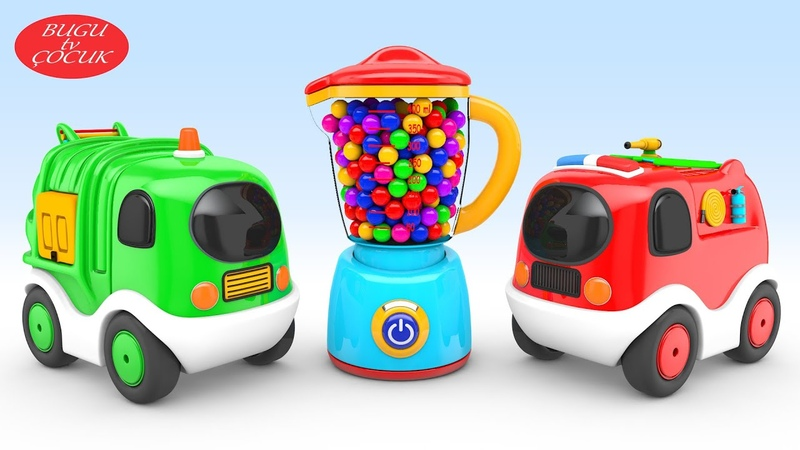Oyuncak Mutfak Robotu Sürpriz Arabalar ile Renkleri Öğrenin