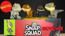 Mattel Jurassic World Snap Squad Review First 4! Indominus, Rexy, Blue, Indoraptor