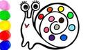 Радуга Улитка 🌈🐌 Учить английский и цвета для детей Magic for kids