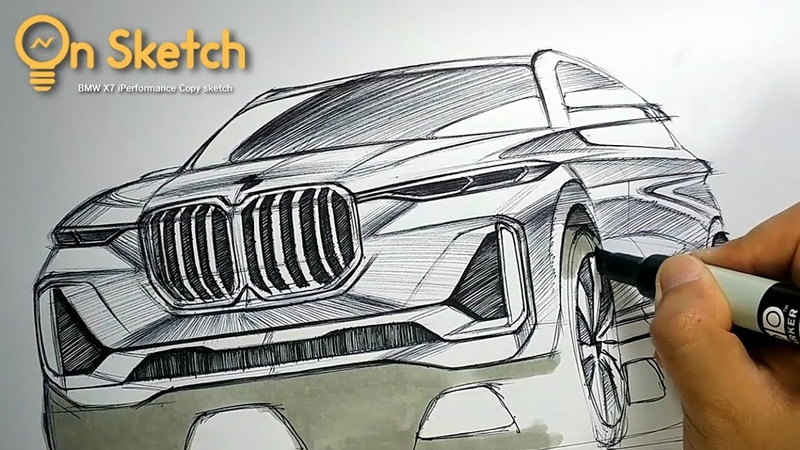 온스케치 CAR SKETCH - 2017 X7 iPerformance Concept COPY Sketch (BIC Ballpen)