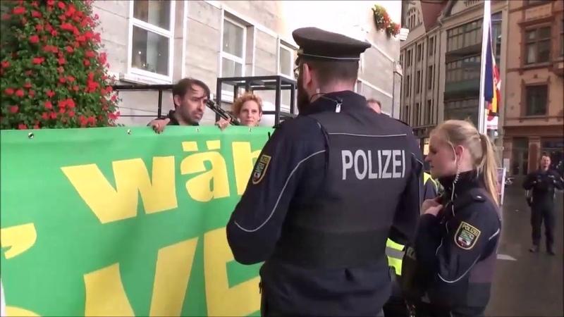 Zu Gast bei Sven Liebich Montagsdemo Halle Grüne Kinderschänder Vergangenheit