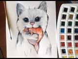 Бесплатный онлайн-вебинар «Рисуем кота»