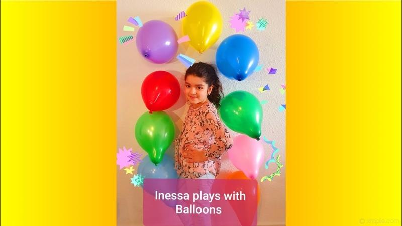 Play with balloons играет в надувные шарики