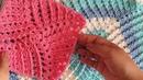 Granny * cuadro a crochet en RELIEVE 3D en ESPIRAL paso a paso tutorial tejido PRINCIPIANTES
