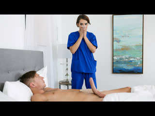 Natalie porkman the nympho nurse (blowjob, brunette, nurse, doctor, natural tits)