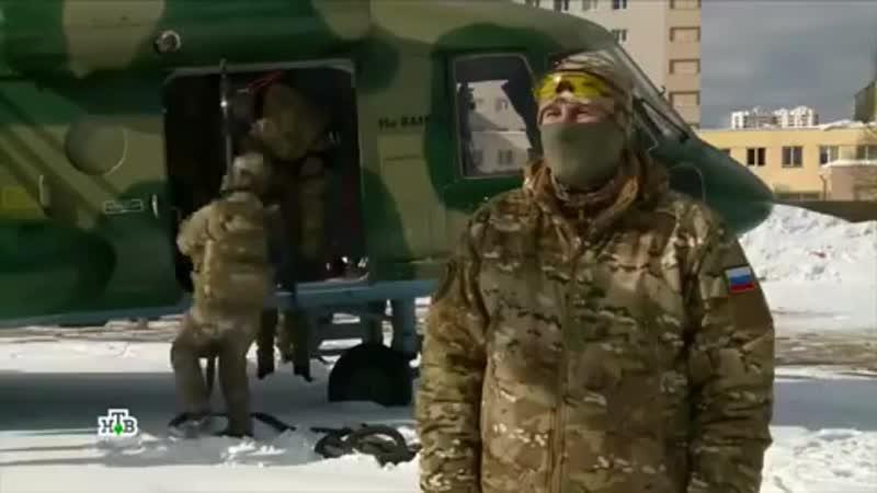 Беспарашютное десантирование сотрудников ЦСН ФСБ России.