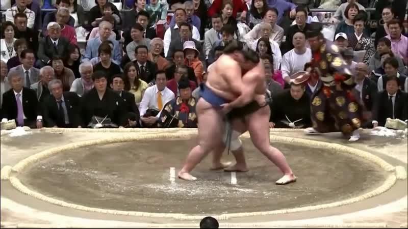 Ichinojo vs Tochinoshin Haru 2018 Makuuchi Day 15