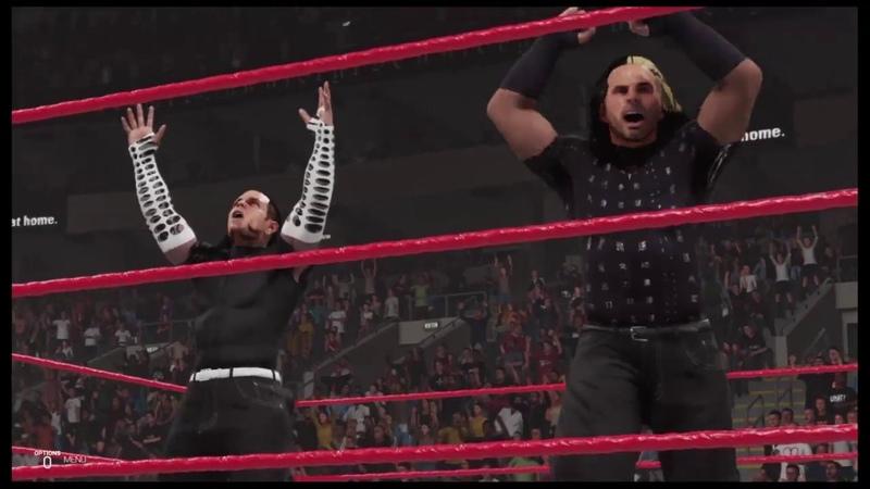 WWE 2K19 Edge Christian vs Hardy Boyz, Unforgiven '99, Steel Cage, WWF Tag Team Championship
