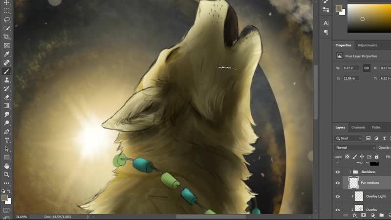 Howl_of_the_Quintessence_Wolf_-_Speedpaint_for_DoggieDiversity-WL93sV2ZWpo