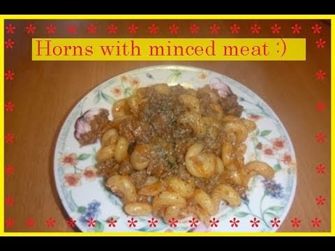Horns with minced meat Bon Appetit
