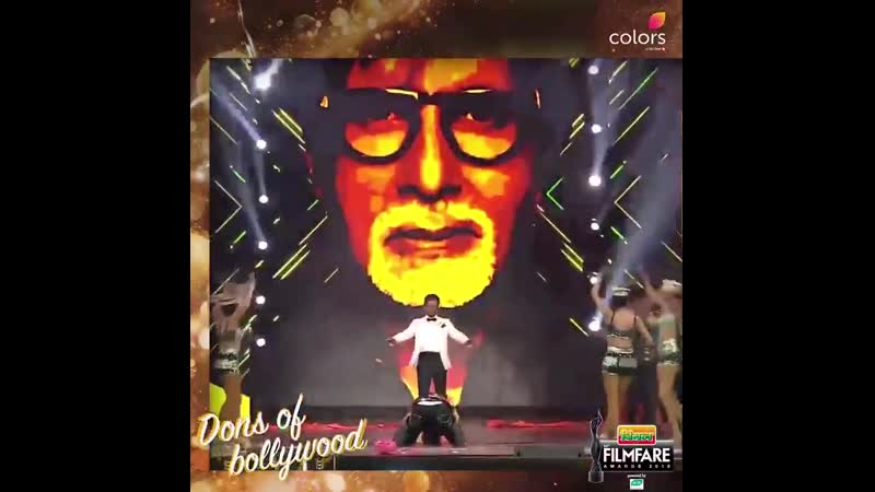 Relive the iconic moments of @SrBachchan with @vickykaushal09 @iamsrk! Watch the magic unfold on Filmfare2019 tomorrow 9 pm, onl