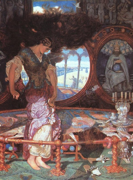 ЛЕДИ ШАЛОТТ. Давным-давно, в те времена, о которых сохранились только легенды, недалеко от Камелота, замка, где жил славный король Артур, посреди реки был остров. А на острове стоял замок.