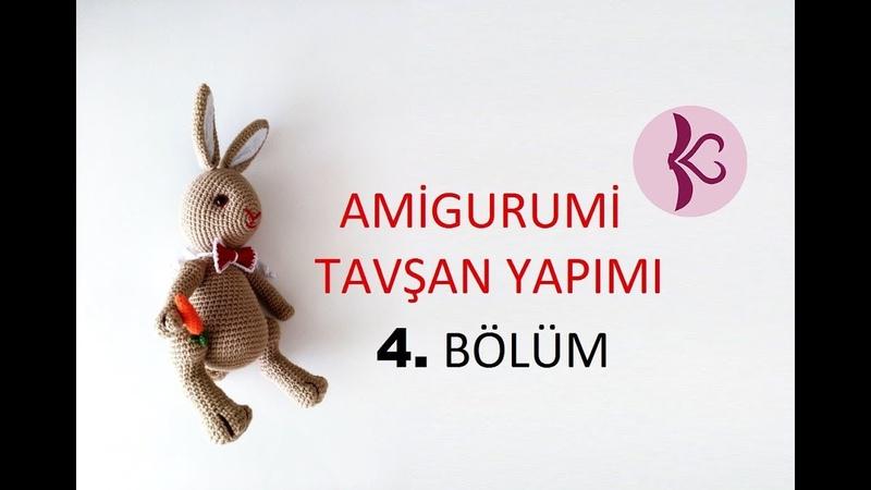 Tavşan Yapımı 4. Bölüm ( Amigurumi Dersleri 4-4) Rabbit Ribbon, Carrot , Attach Body Parts