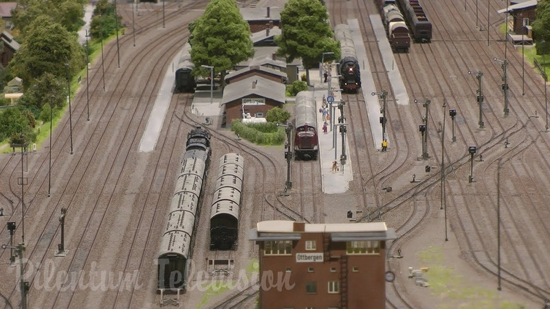 One of Germanys finest and most famous and superb model railway with steam trains in HO scale