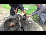 Punjab Village Tube well Peter Diesel Engine Agriculture in Rural Area