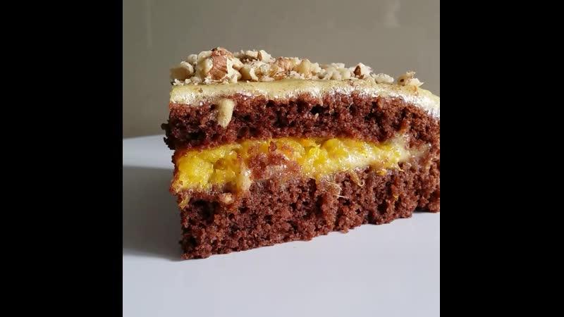 Постный торт Апельсин в шоколаде См описание