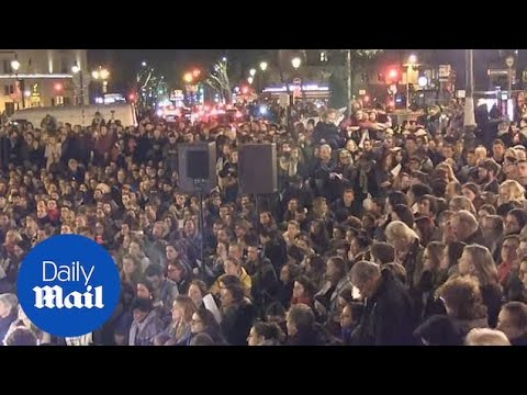 Notre Dame Vigil held in Paris to pay tribute after fire