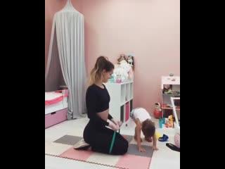 Отличная тренировка от молодой мамочки 😉 берем на заметку