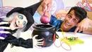 Sihir yapma oyunu Alper Cadı'nın kazanını tamir ediyor Çocuk videoları