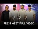 RRR Press Meet Full Video - NTR, Ram Charan | SS Rajamouli | DVV Danayya