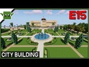 Minecraft Building a City 15 - City Hall and Library and More!
