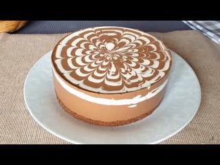 Торт зебра без выпечки ✧ простой и быстрый пошаговый рецепт сметанного торта
