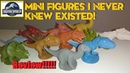 Jurassic World Mini figures i neer knew existed!!! Unboxing and Review!!!