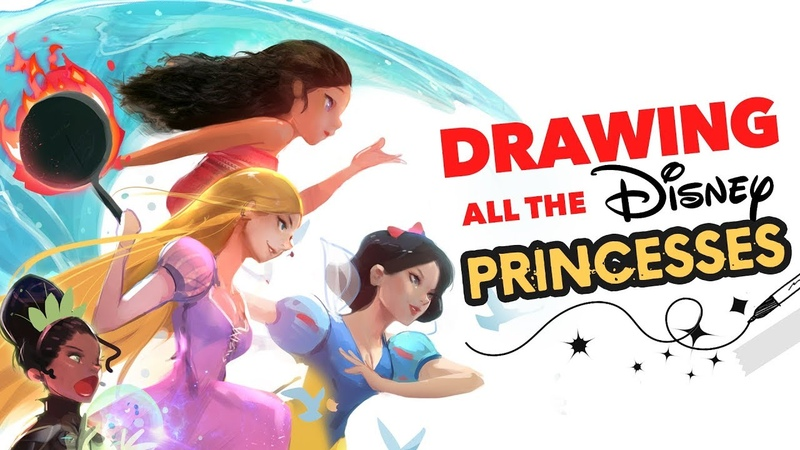 DRAWING ALL THE DISNEY PRINCESSES! :D (Wreck it Ralph)