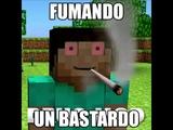 Minecraft Contando los fardos fumando un bastardo