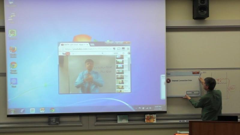 Math Teacher has Internet Connection Error - April Fools