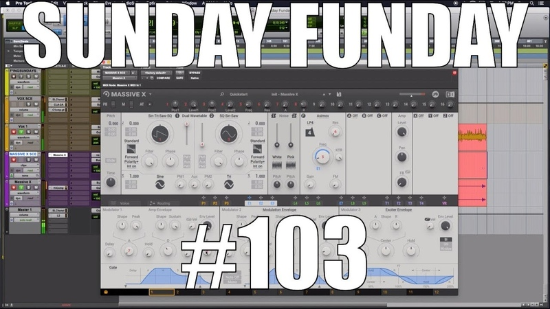 Sunday Funday 103 Introduction to MASSIVE X Part 1 OSCILLATORS FILTERS EFFECTS
