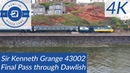 Sir Kenneth Grange 43002 HST Passes Dawlish Sea Wall with Drone Toot
