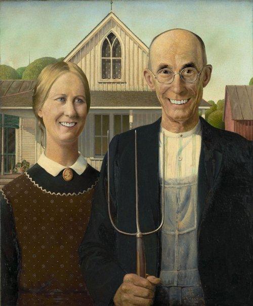 Как бы выглядели известные картины, если бы их герои улыбались Большинство знаменитых картин довольно грустны и печальны на них никто не улыбается. За исключением Моны Лизы с едва заметной