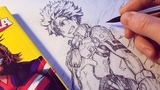 Drawing Izuku Midoriya NEW HERO Design - Redesign Anime Manga Sketch