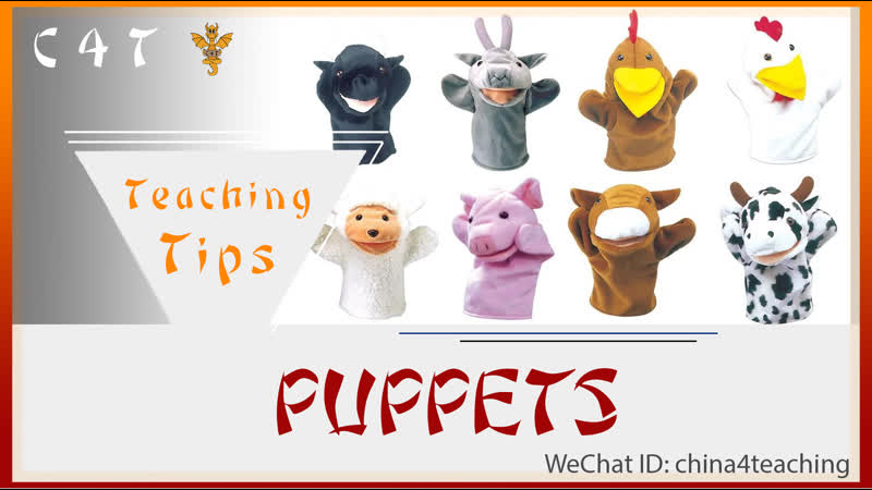 PUPPETS. ESL. CHINESE KINDERGARTEN. TRAINING CENTER. YOUNG ENGLISH LEARNERS. C4T.