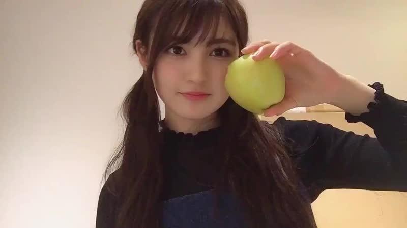 今日は公演終わりの りんご丸かじりが最高で じなわせ 🍏🥰 ダイエットしてる時は大抵公演終わりにりんごだけ食べてるよ! 今日は公演もしたから80キロカロリーのアイスも食べたけどね〜 赤りんごより青リンゴ派🥰 t.co/v5h8Lrd9i6