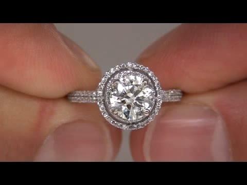 Circa 1980's GIA Certified 1.37 Carat Diamond Engagement Ring 14kt Gold