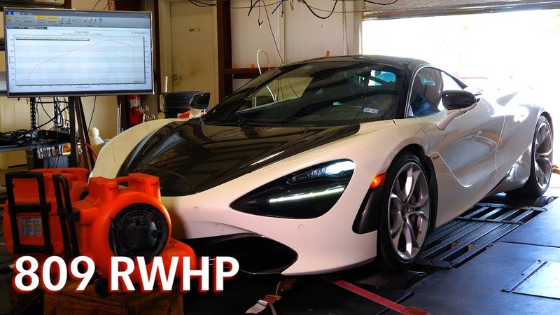 809 RWHP Hennessey McLaren 720S Chassis Dyno Testing