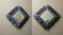 Como hacer un espejo cuadrado -how to make a square mirror