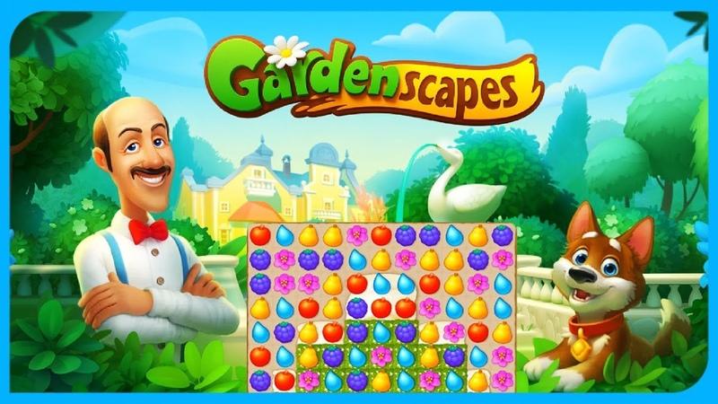 Gardenscapes Игра ДИВНЫЙ САД Три в ряд на Мульт Карапульт