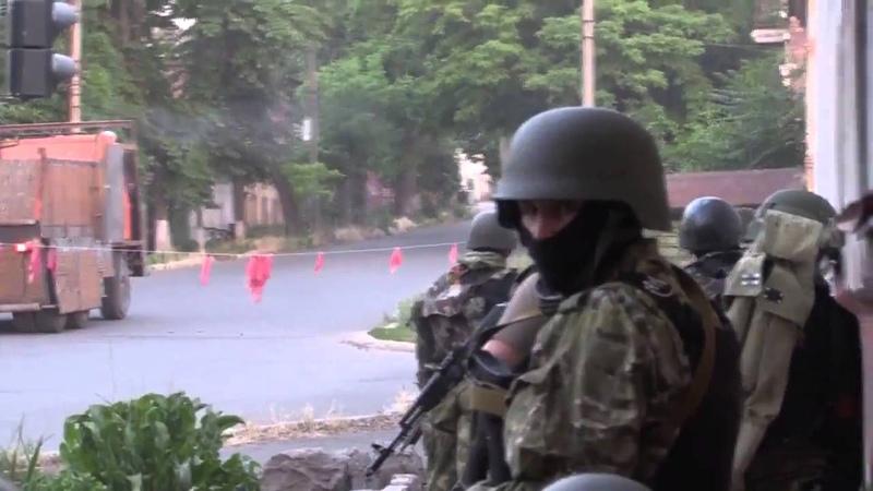 Уличный бой батальона Азов в Мариуполе Street fighting battalion Azov in Mariupol