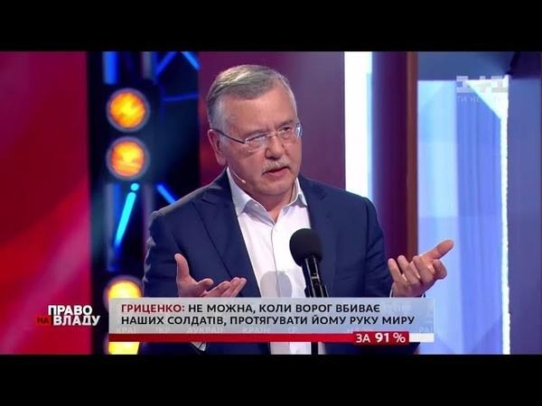 Анатолій Гриценко у програмі «Право на владу» (06.06.2019)