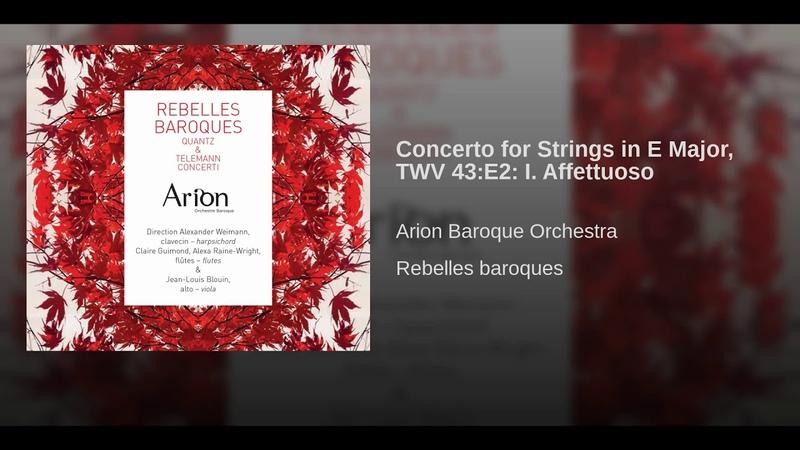 Concerto for Strings in E Major, TWV 43:E2: I. Affettuoso