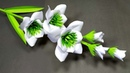 DIY Flower: How to Make Beautiful Stick Flower with Paper! Flower Making! Abigail Paper Crafts