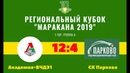Кубок Маракана-2019. 1 тур. Группа А. Академия-ВЧДЭ1 - СК Парково
