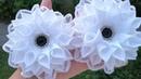 Цветы из лент 2 5cm 🌺 Очень легкий вариант 🌺 Ribbon Flowes Tutorial D I Y